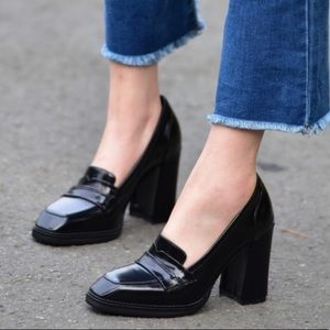 Bandolino Patent Leather Loafer Pumps